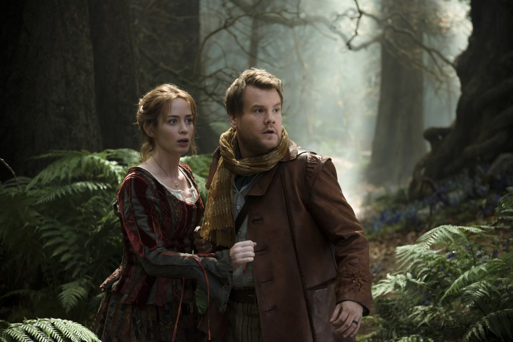 Emily Blunt and James Corden star as a baker and his wife who wish to start a family in ?Into the Woods,? a modern twist on beloved fairy tales. Based on the Tony?-winning musical, the film hits theaters nationwide Dec. 25, 2014. Photo by: Peter Mountain. ? 2014 Disney Enterprises, Inc. All Rights Reserved..